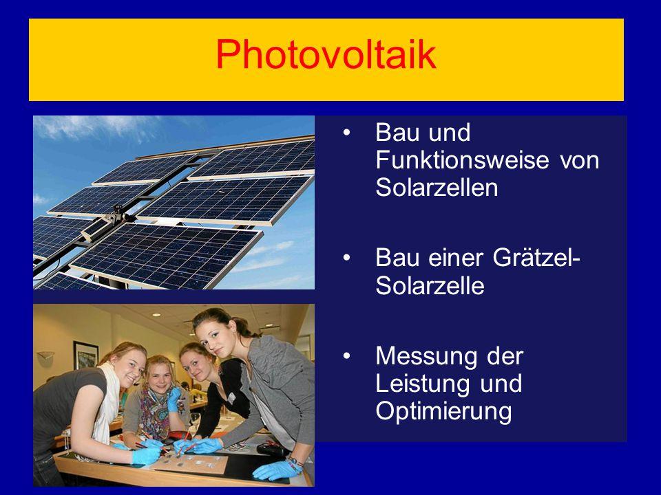 Photovoltaik Bau und Funktionsweise von Solarzellen