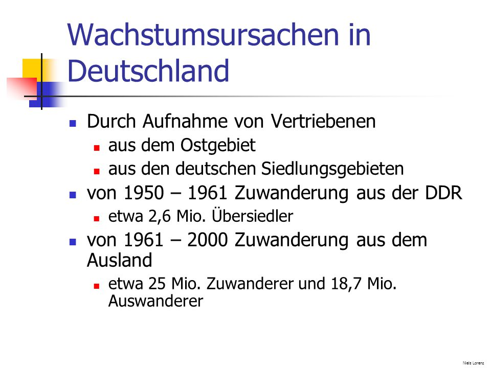Wachstumsursachen in Deutschland