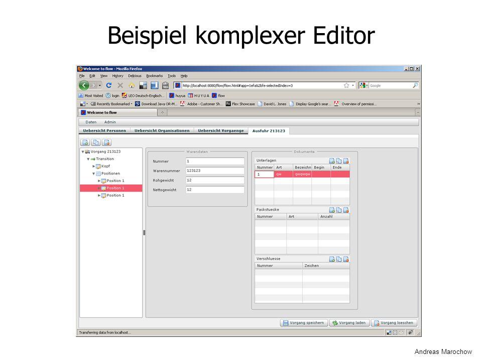 Beispiel komplexer Editor