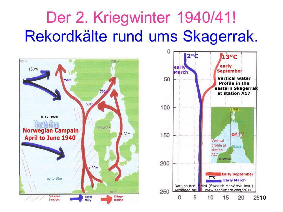 Der 2. Kriegwinter 1940/41! Rekordkälte rund ums Skagerrak.