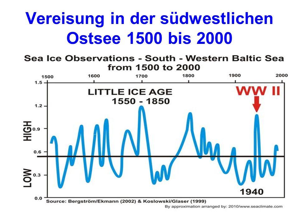 Vereisung in der südwestlichen Ostsee 1500 bis 2000