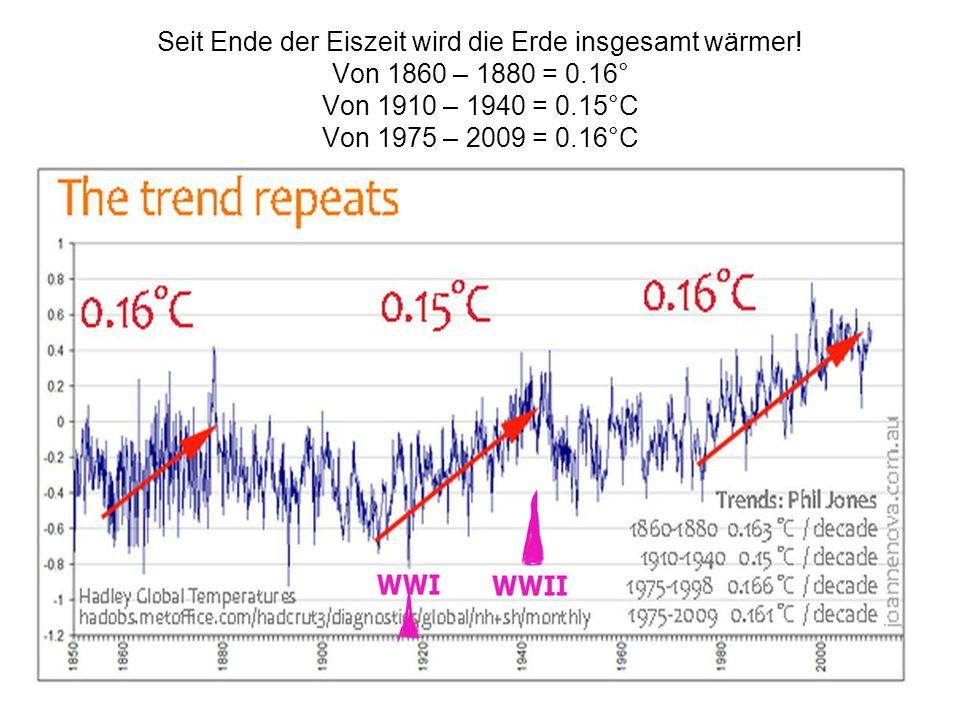 Seit Ende der Eiszeit wird die Erde insgesamt wärmer