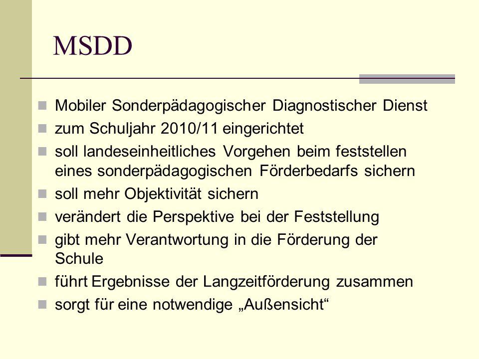 MSDD Mobiler Sonderpädagogischer Diagnostischer Dienst