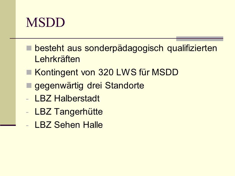 MSDD besteht aus sonderpädagogisch qualifizierten Lehrkräften