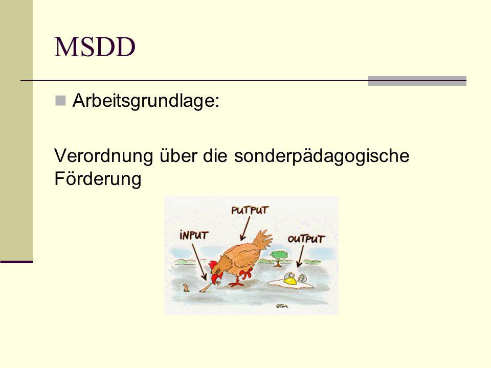 MSDD Arbeitsgrundlage: