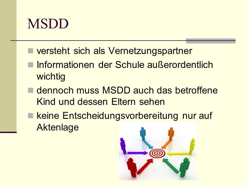 MSDD versteht sich als Vernetzungspartner