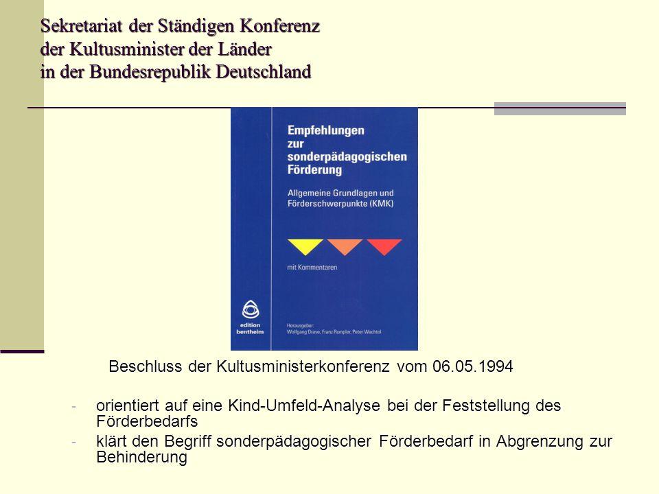 Sekretariat der Ständigen Konferenz der Kultusminister der Länder in der Bundesrepublik Deutschland