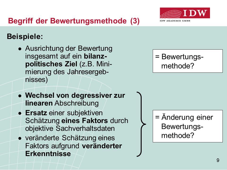 Begriff der Bewertungsmethode (3)