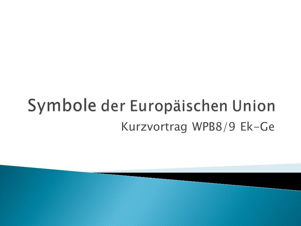 Symbole der Europäischen Union