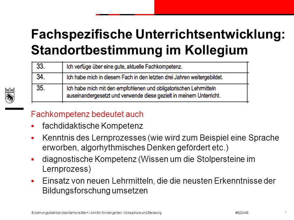 Fachspezifische Unterrichtsentwicklung: Standortbestimmung im Kollegium