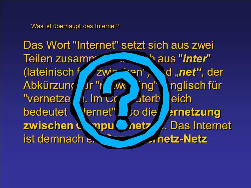 Was ist überhaupt das Internet