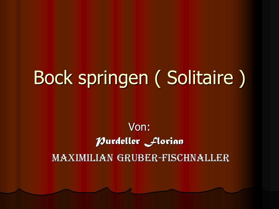 Bock springen ( Solitaire )