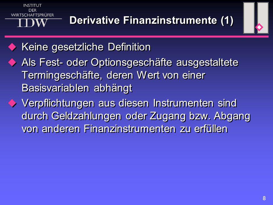 Derivative Finanzinstrumente (1)