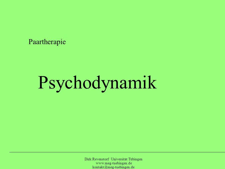Paartherapie Psychodynamik