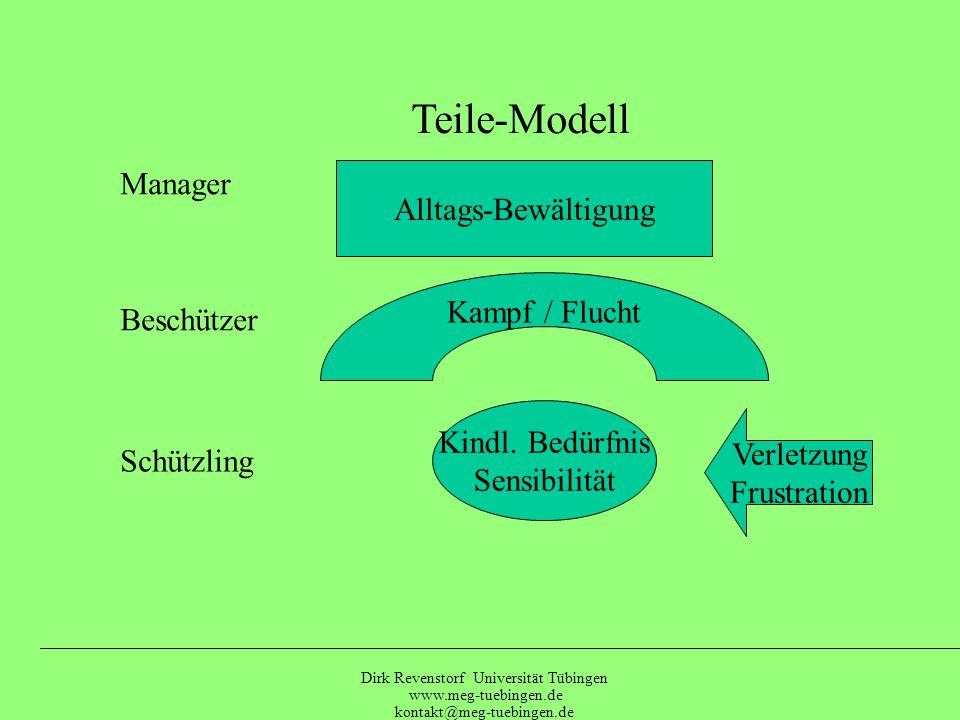 Teile-Modell Manager Alltags-Bewältigung Kampf / Flucht Beschützer