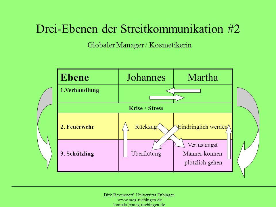 Drei-Ebenen der Streitkommunikation #2 Globaler Manager / Kosmetikerin