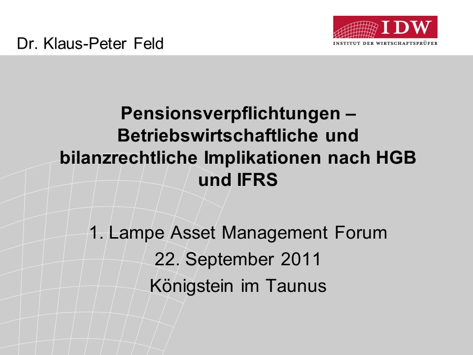 1. Lampe Asset Management Forum
