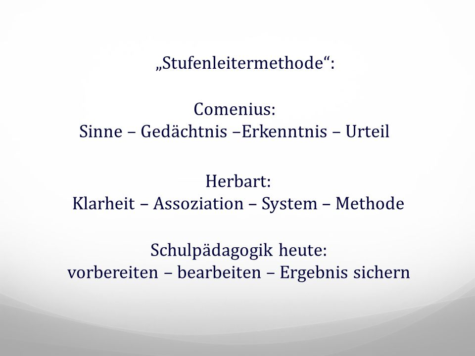 """Stufenleitermethode :"