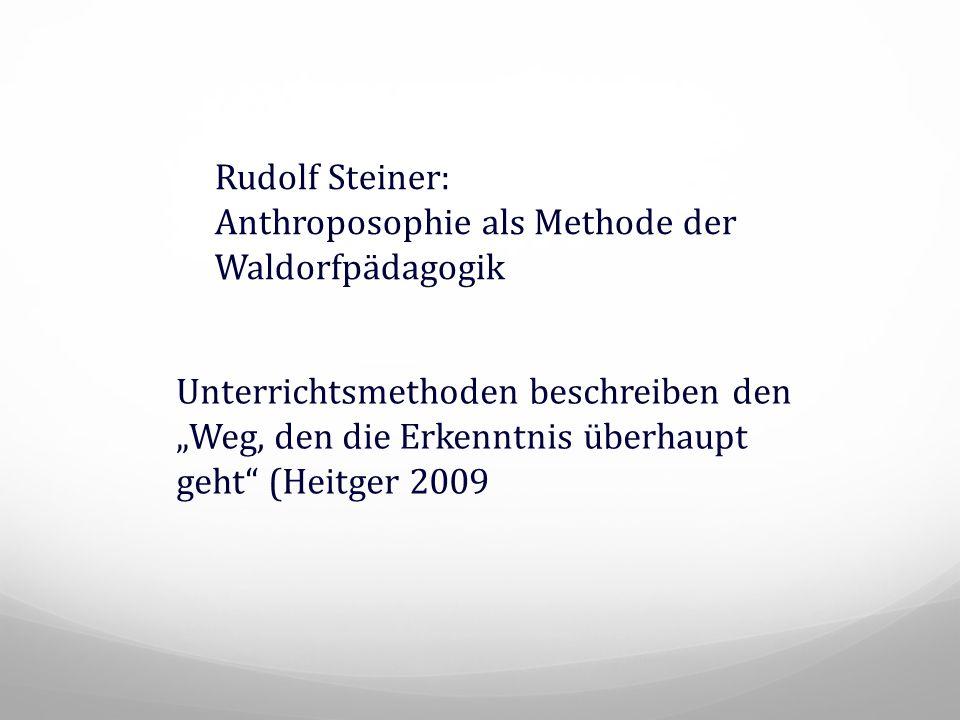Rudolf Steiner: Anthroposophie als Methode der Waldorfpädagogik.