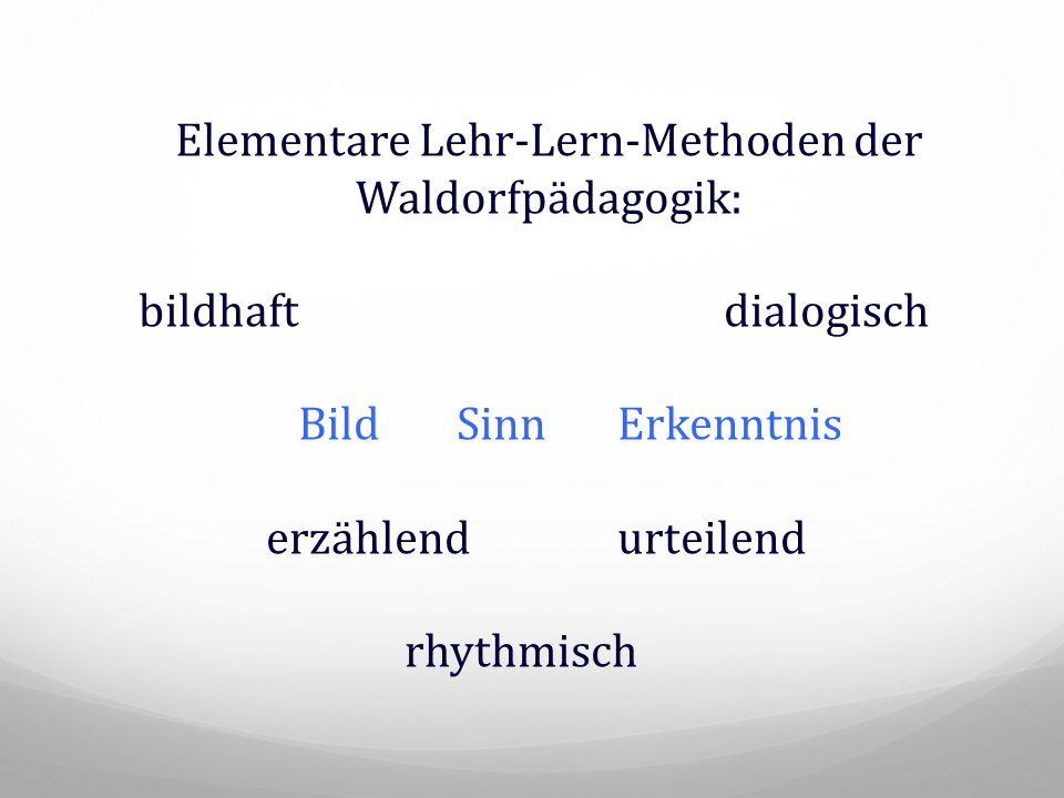 Elementare Lehr-Lern-Methoden der Waldorfpädagogik: