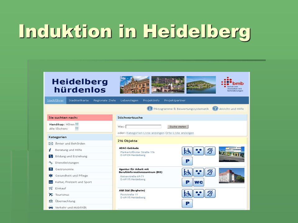 Induktion in Heidelberg