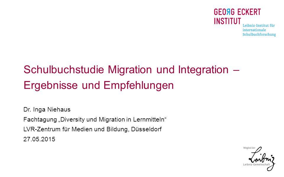 Schulbuchstudie Migration und Integration –