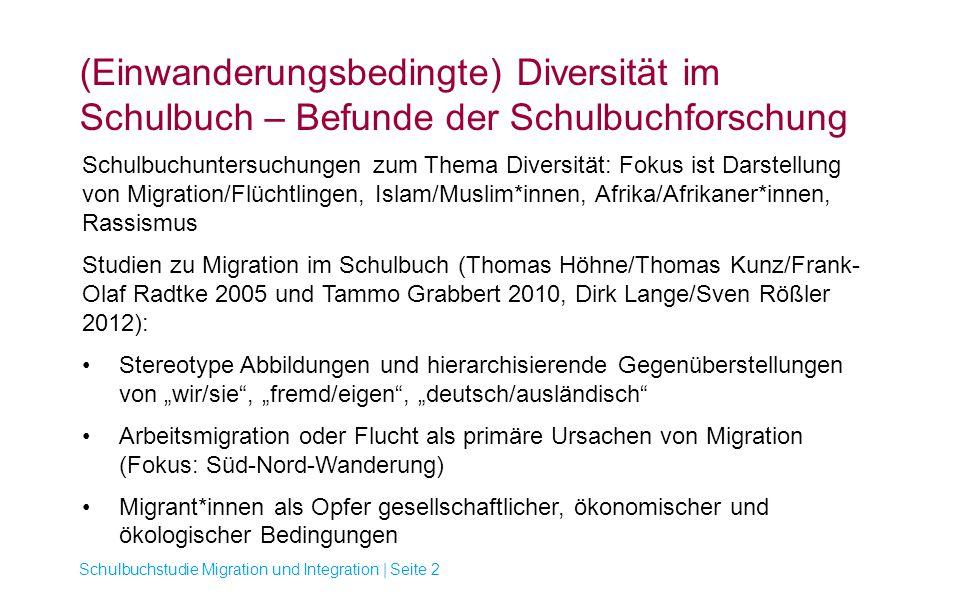 (Einwanderungsbedingte) Diversität im Schulbuch – Befunde der Schulbuchforschung