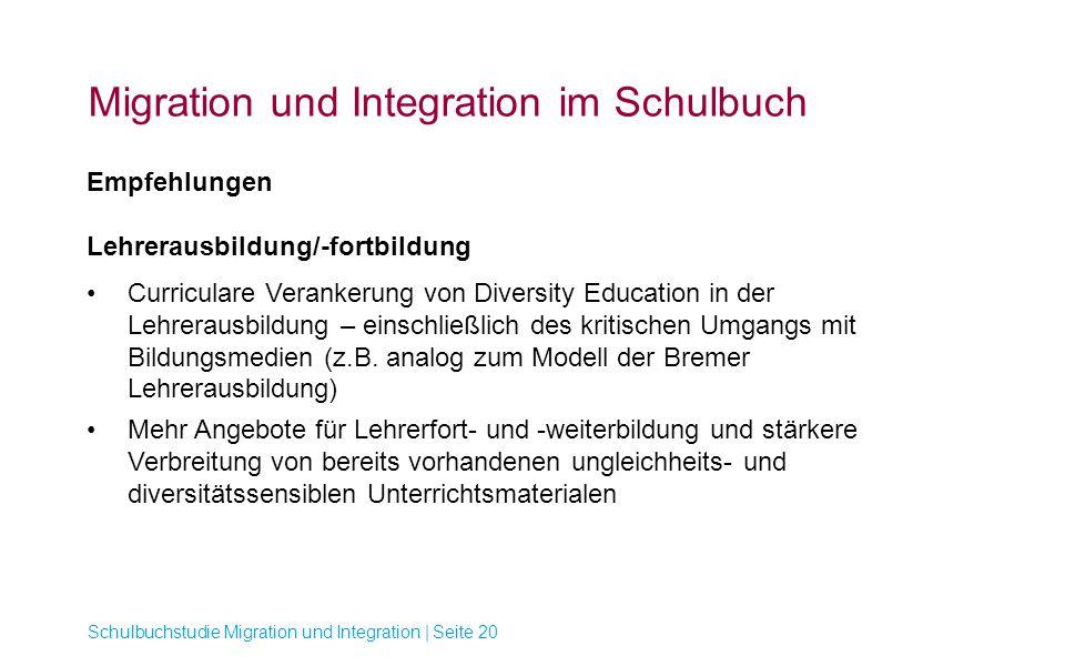 Migration und Integration im Schulbuch