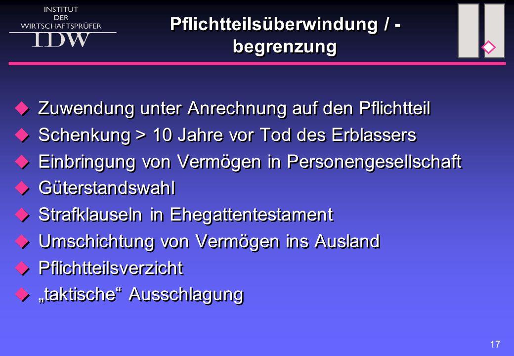 Ehegattenregelungen Güterstände. modifizierte Zugewinngemeinschaft. steuerliche Vor- + Nachteile der Güterstände.