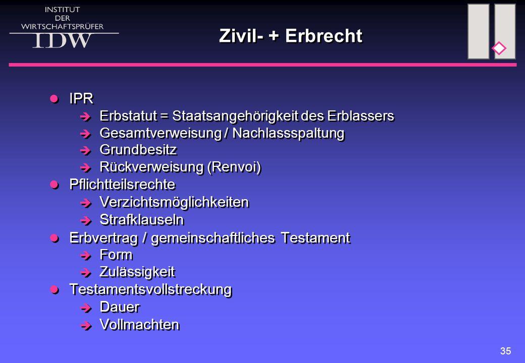 Erbschaft- / Schenkungssteuerrecht