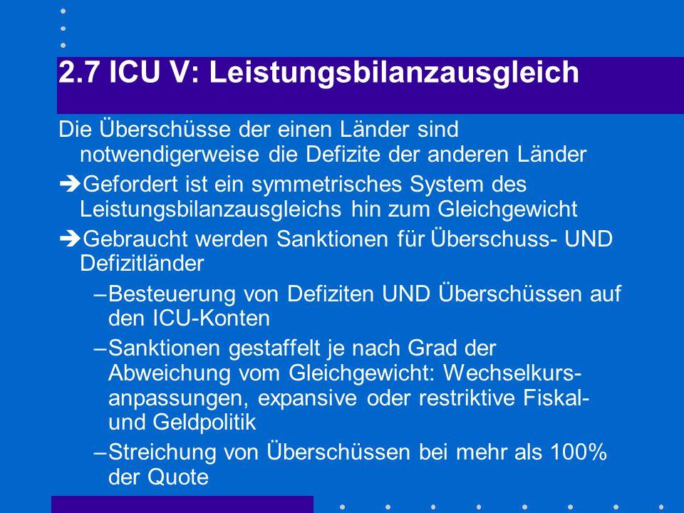 2.7 ICU V: Leistungsbilanzausgleich