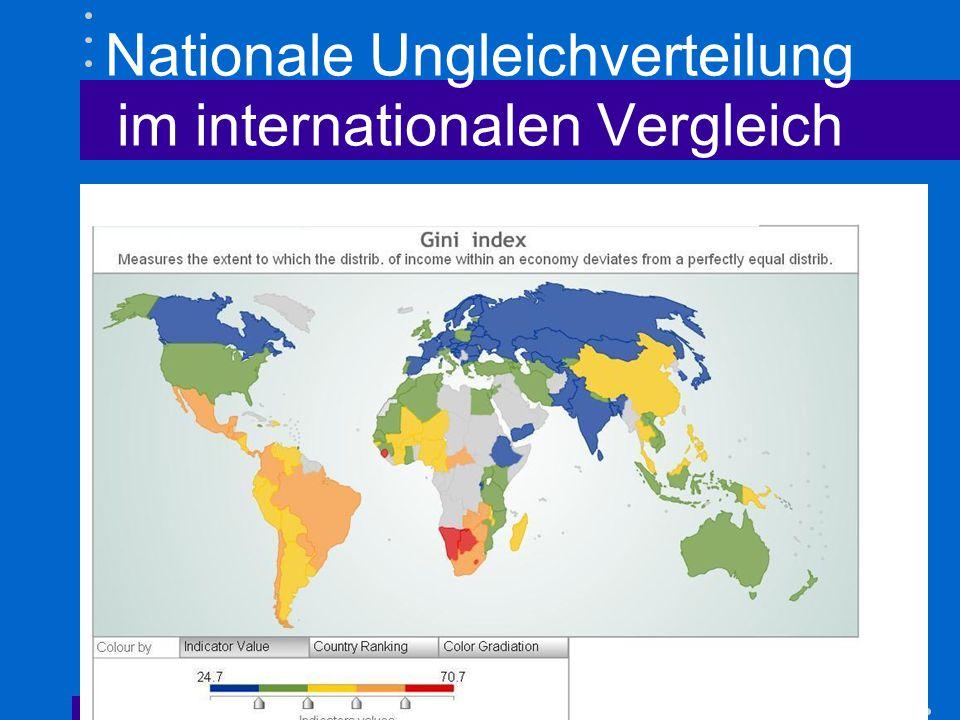 Nationale Ungleichverteilung im internationalen Vergleich