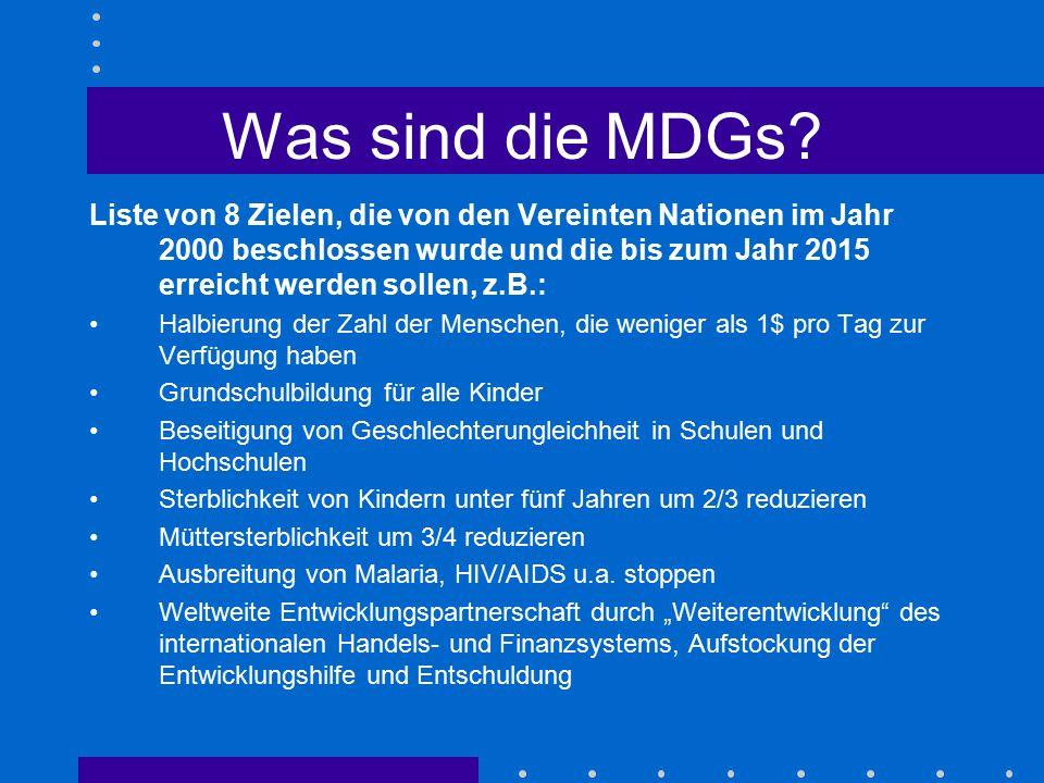 Was sind die MDGs