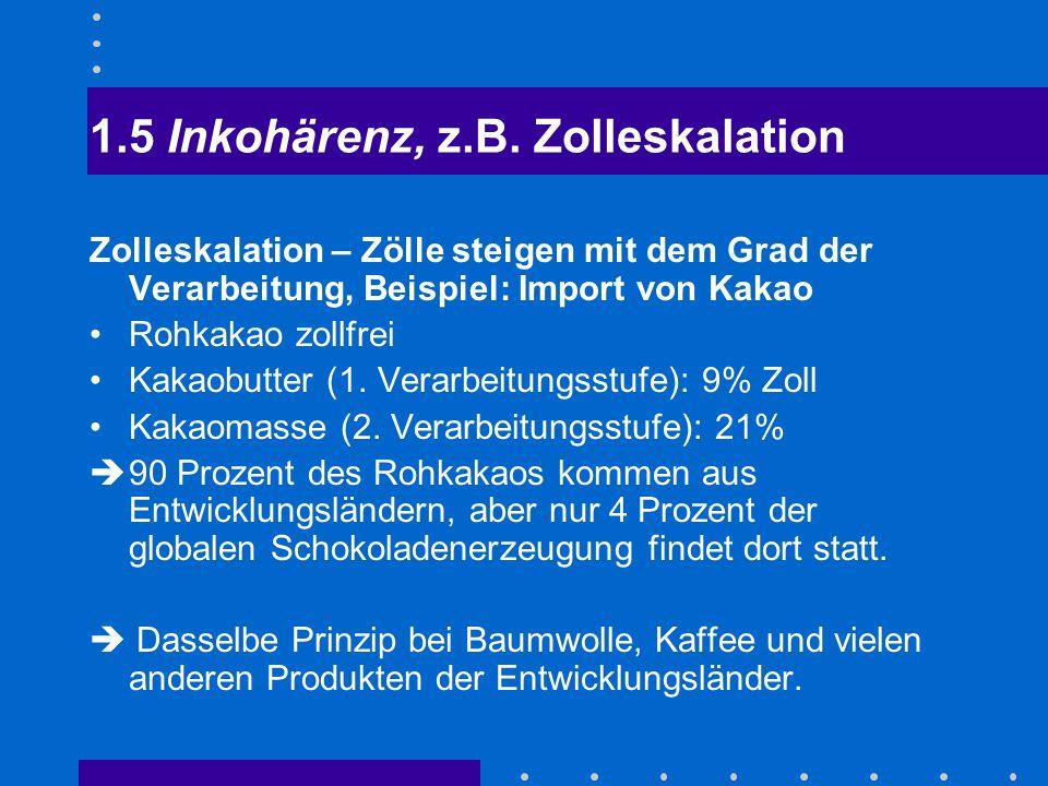 1.5 Inkohärenz, z.B. Zolleskalation