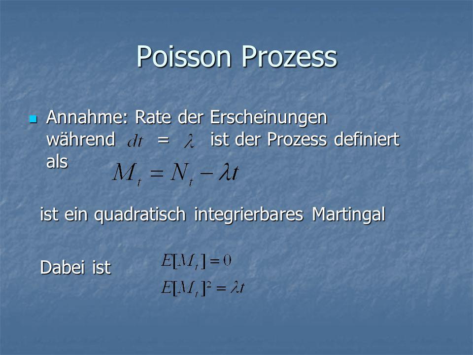 Poisson Prozess Annahme: Rate der Erscheinungen während = ist der Prozess definiert als.