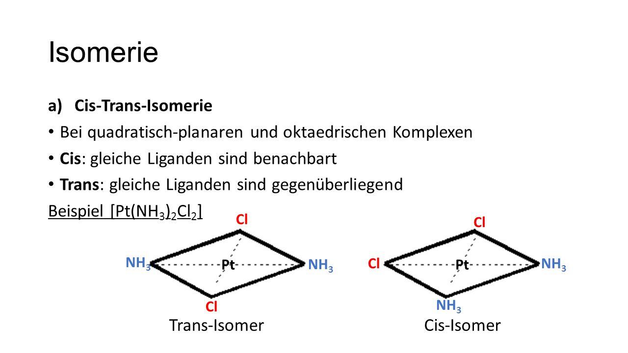 Isomerie Cis-Trans-Isomerie