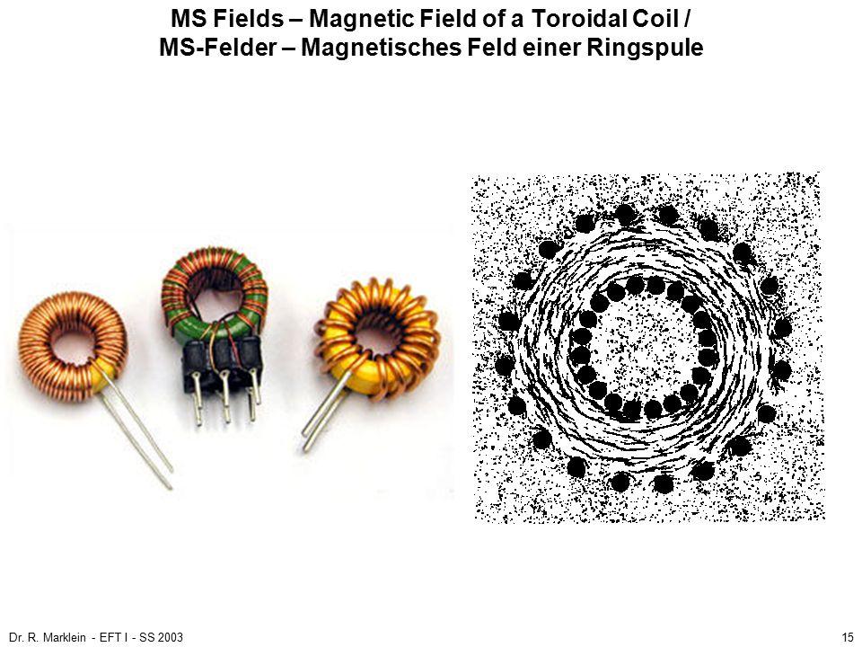 MS Fields – Magnetic Field of a Toroidal Coil / MS-Felder – Magnetisches Feld einer Ringspule
