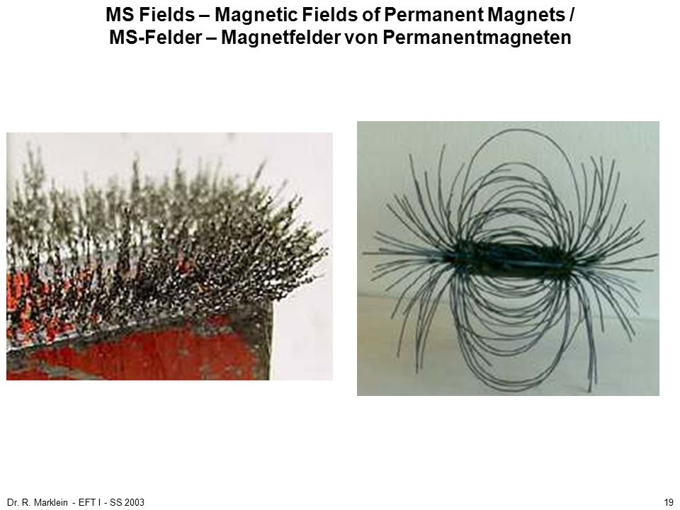 MS Fields – Magnetic Fields of Permanent Magnets / MS-Felder – Magnetfelder von Permanentmagneten