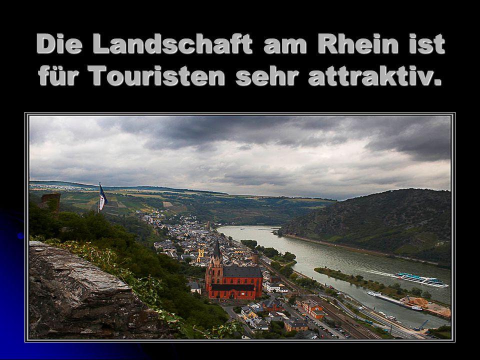 Die Landschaft am Rhein ist für Touristen sehr attraktiv.