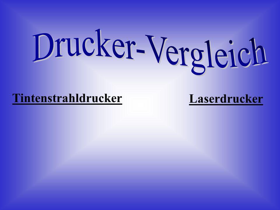 Drucker-Vergleich Tintenstrahldrucker Laserdrucker