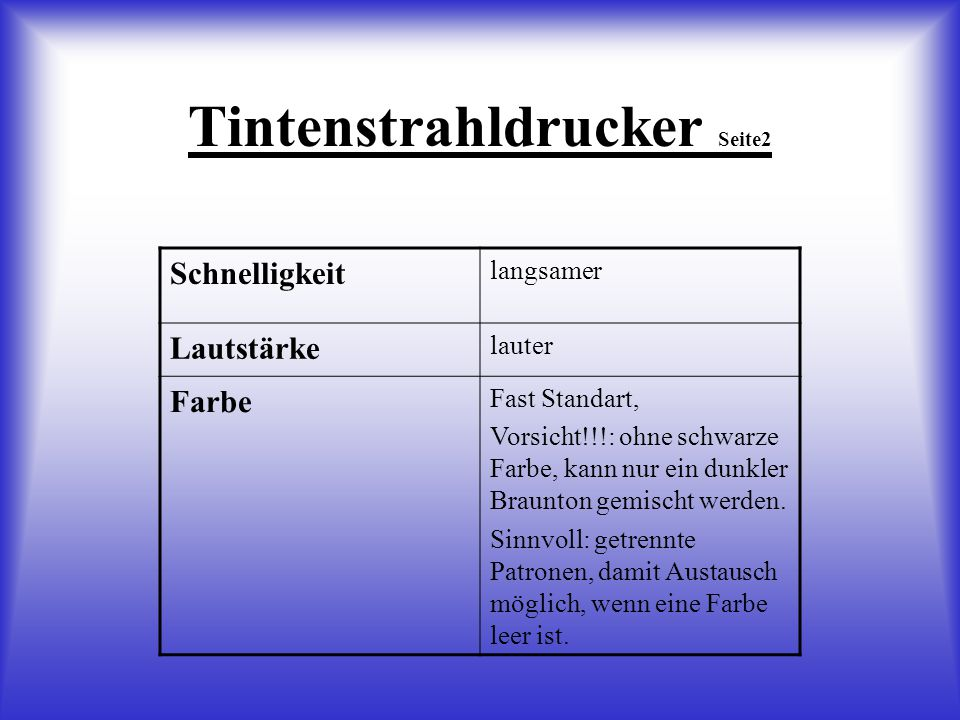 drucker vergleich tintenstrahldrucker laserdrucker ppt video online herunterladen. Black Bedroom Furniture Sets. Home Design Ideas