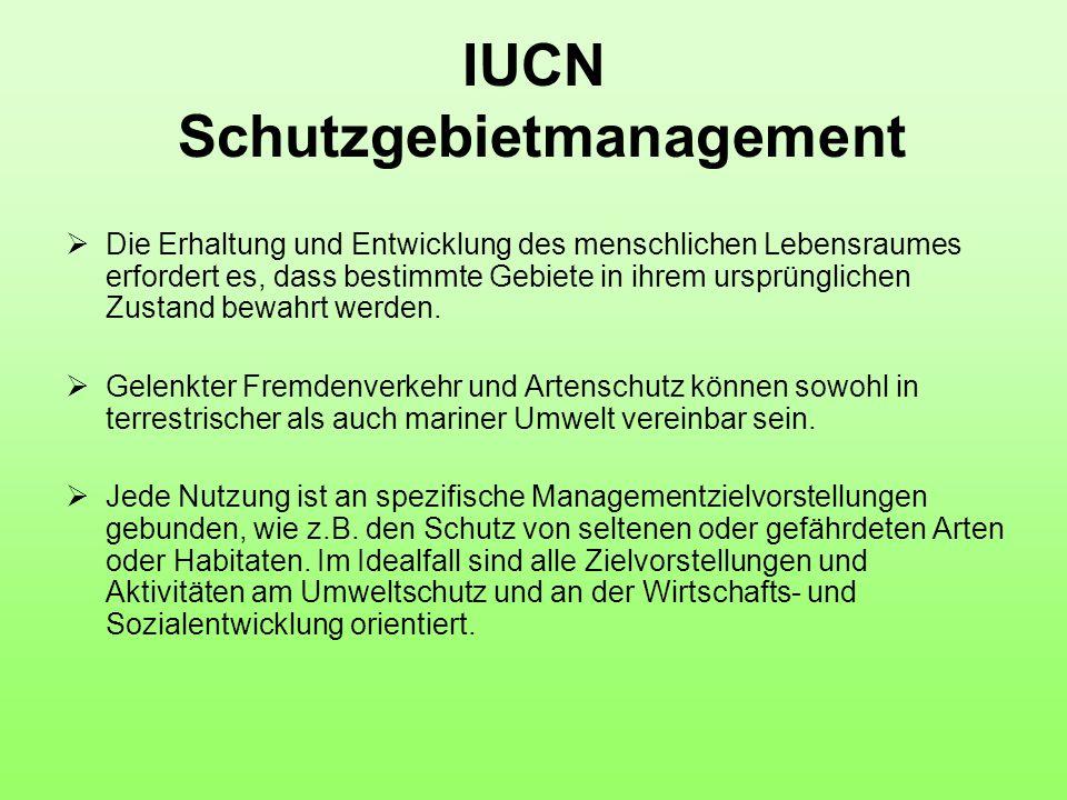 IUCN Schutzgebietmanagement