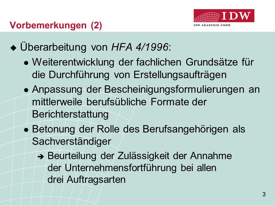 Überarbeitung von HFA 4/1996: