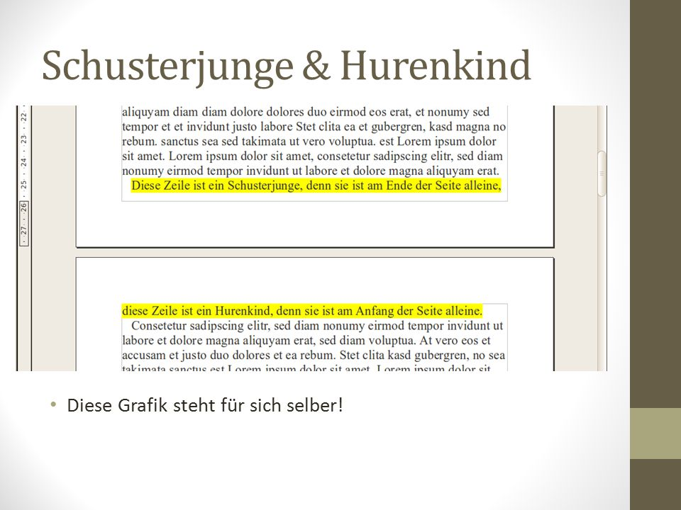 Schusterjunge & Hurenkind