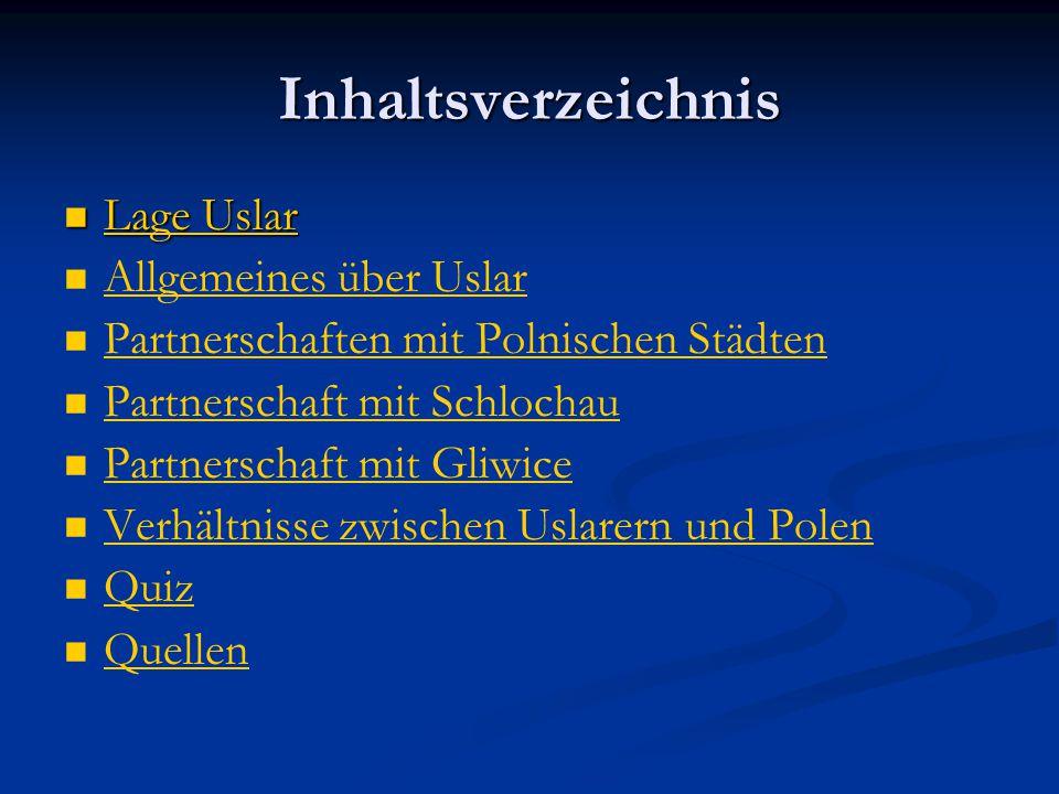 Inhaltsverzeichnis Lage Uslar Allgemeines über Uslar