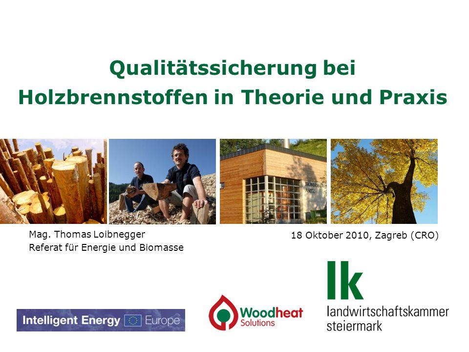 Qualitätssicherung bei Holzbrennstoffen in Theorie und Praxis