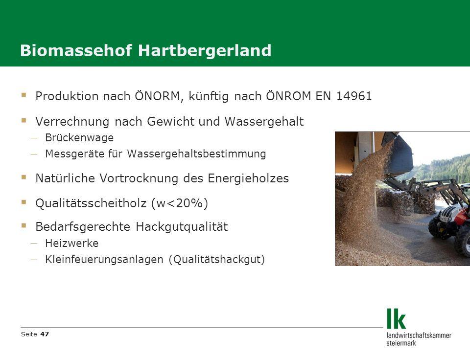 Biomassehof Hartbergerland