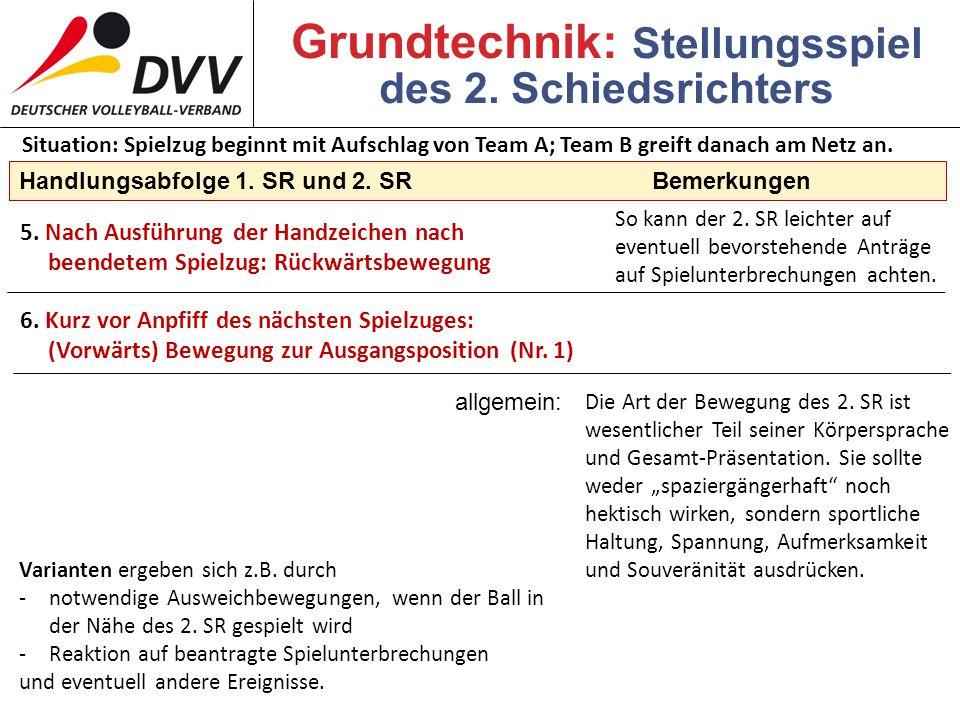 Grundtechnik: Stellungsspiel des 2. Schiedsrichters