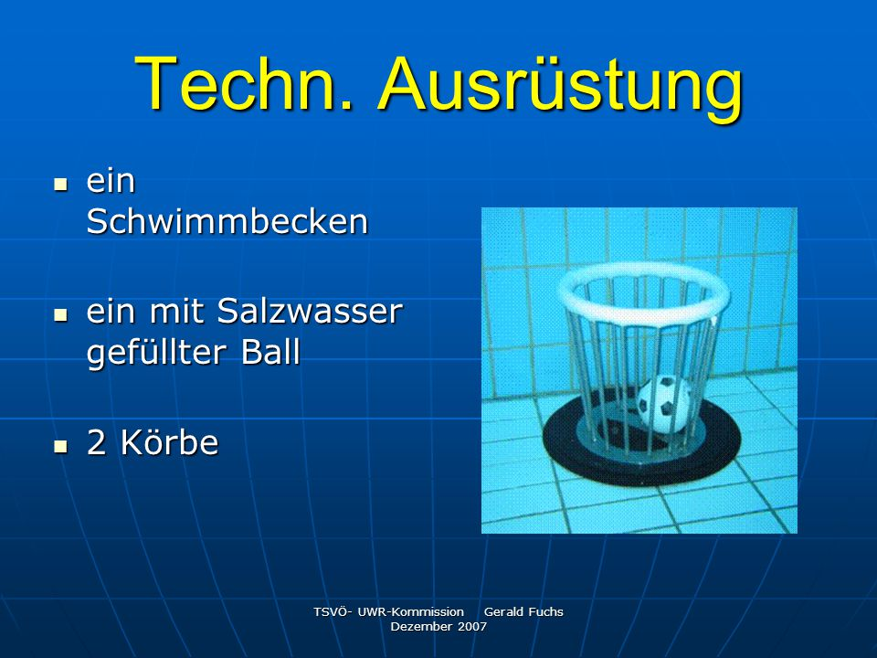 TSVÖ- UWR-Kommission Gerald Fuchs Dezember 2007