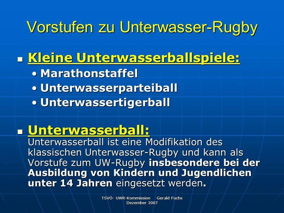 Vorstufen zu Unterwasser-Rugby